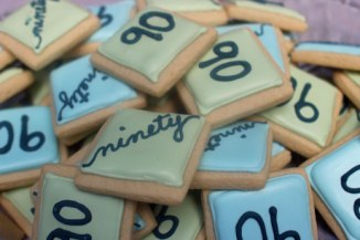 90th birthday cookies